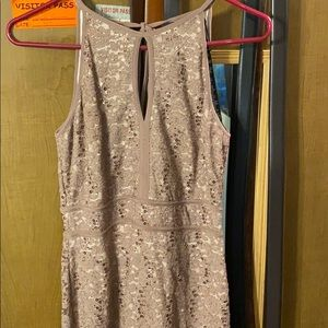 Sequence taupe sleeveless dress